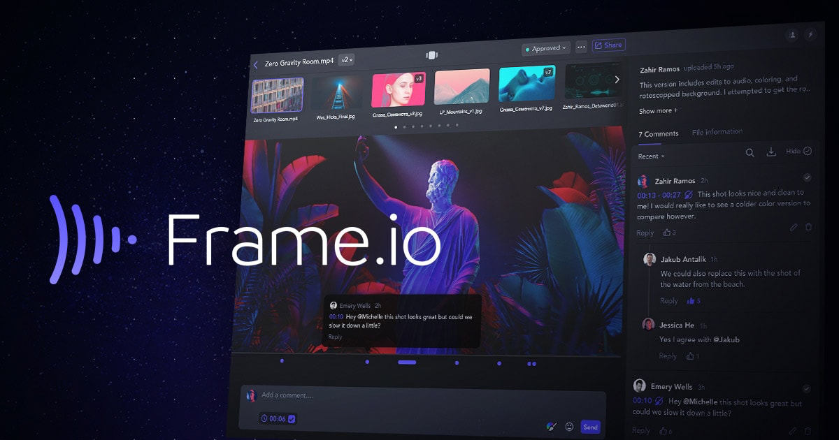 Video Post Production Collaboration Software | Frame.io
